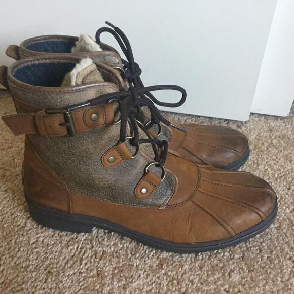 c84569de71c Ugg Cecile Chestnut Leather Boots